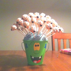 Cake eyeballs for my son's 2nd birthday.