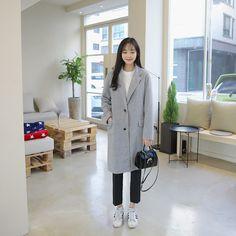 #envylook Brushed Single-Breasted Coat #koreanfashion #koreanstyle #kfashion #kstyle #stylish #fashionista #fashioninspo #fashioninspiration #inspirations #ootd #streetfashion #streetstyle #fashion #trend #style