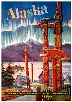 Fantastic A4 Glossy Print - 'Alaska' (2) - Taken From A Rare Vintage Travel Poster (Vintage Travel / Transport Posters) by Unknown http://www.amazon.co.uk/dp/B005WJJLCW/ref=cm_sw_r_pi_dp_dwYovb0DKPDBC