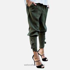 ef974f20ff3 Preself Women s Fashion Camo Military Rucker Slouchy Trousers (8