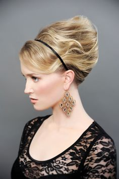 """The Perfect 'Do""  Hair | Coiffure: Sharon Blain www.sharonblain.com Makeup | Maquillage: Margaret Ashton Stylist | Stylisme: Paula Hibbard Photo: Ian Golding   http://www.canhair.com/collections/?id=4262  #Hair #Style #Hairstyle #Updo #Hairdo #Cocktail #wedding"