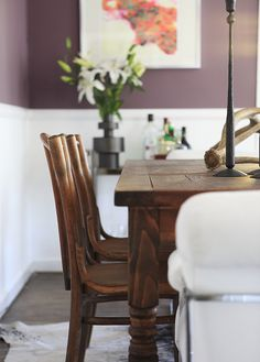 Benjamin Moore Vintage Charm--seriously thinking about a moody muted purple for the guest room and this color is great