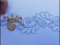 Hand Embroidery Beadss Work,Border Line For Dress ,easy embroidery tutorial – hand embroidery Bead Embroidery Tutorial, Hand Embroidery Videos, Bead Embroidery Patterns, Hand Embroidery Stitches, Hand Embroidery Designs, Ribbon Embroidery, Cactus Embroidery, Motifs Perler, Hand Designs