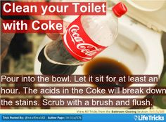 Bathroom Cleaning - Clean your Toilet with Coke