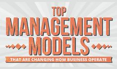 Top Management Models That Are Changing How Business Operate #Infographic