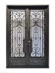 This beautiful French garden style wrought iron door is uniquely beautiful. Your home will stand out above any other with this elegant door. Contact us today at 888-202-0816 for more information.