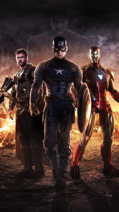The Big Three: Captain America, Thor and Iron Man Marvel Dc Comics, Marvel Avengers, Films Marvel, Marvel Fan, Marvel Memes, Marvel Characters, Hawkeye Marvel, Captain America Wallpaper, Mundo Marvel