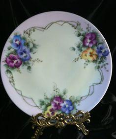 Sevres Bavaria Handpainted Porcelain Plate, Artist Signed, 1910.