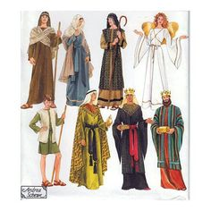 Teen Adult UNCUT Nativity Costume Sewing Pattern Joseph Mary