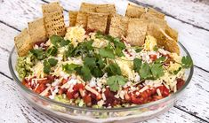 Layered Nacho Dip Minced Beef Recipes, Mince Recipes, Dip Recipes, Gourmet Recipes, Appetizer Recipes, Snack Recipes, Layered Nacho Dip, Chef Shows, Party Finger Foods