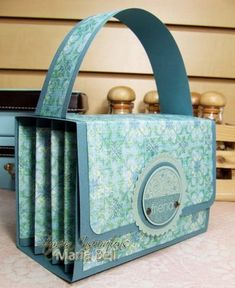"Inspired and Unscripted: 4 x 6"" Accordion File Purse Tutorial"