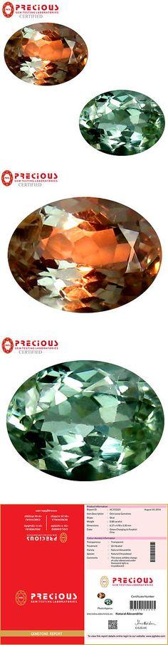 Alexandrite 10190: 0.88 Ct Pgtl Certified (7 X 5 Mm) Change From To Purplish Grey Alexandrite -> BUY IT NOW ONLY: $349.99 on eBay!