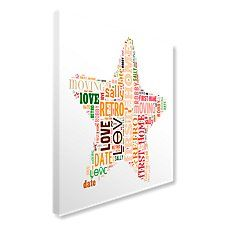 Star Text Montage Canvas