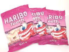 Haribo Gummi Candy, Teeth 80g X 3, Halal,