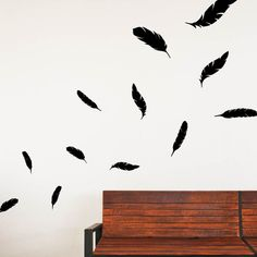 Falling Feathers Wall Decal - something like this might be great for above the fireplace