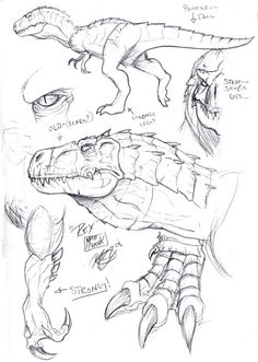 Skull Island Tyrannosaur von Matt Frank The Effective Pictures We Offer You About Dinosaur printables A quality picture can tell you many things. Dinosaur Sketch, Dinosaur Drawing, Dinosaur Art, Dinosaur Design, Animal Sketches, Animal Drawings, Drawing Sketches, Art Drawings, Drawing Ideas