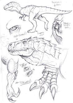 Skull Island Tyrannosaur by Matt Frank