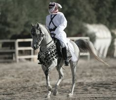 Arabian atire, possibly show/costume or native. Link doesn't work so I don't know