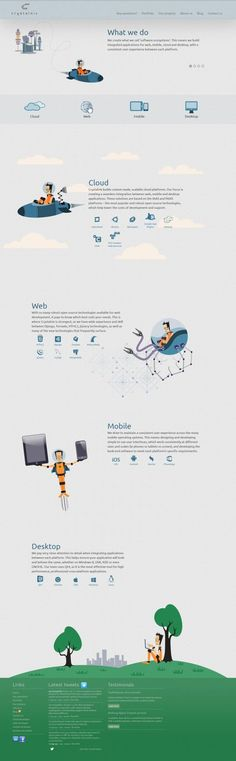 Unique Web Design on the Internet, Crystalnix #webdesign #webdevelopment #website: