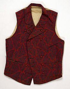 Waistcoat (image 1) | American | 1840 | wool | Metropolitan Museum of Art | Accession #: 1979.346.47