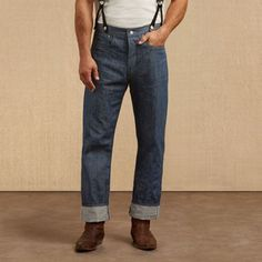 In 1873, Levi Strauss and Jacob Davis first introduced their classic blue jean. However, by 1890 their exclusive patent for riveted clothing had expired, meaning that other companies could use the same construction. In response to this impending competition, Levi Strauss & Co. printed the inside pocket bag with information about the garment's originality and extra strong denim — referred to as