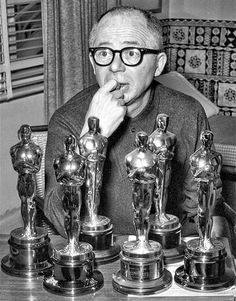 Billy Wilder. Showing Oscars. Six. For The Apartment. '61.