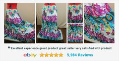 NEW Hippie Peasant Skirt Mixed Prints Cato Plus Size 22/24W 2X/3X Huge Sweep #cato #boho #peasant