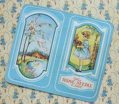 Image result for happy home vintage illustration needlebook