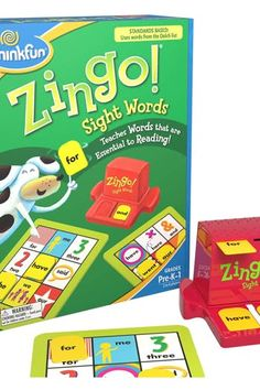 ThinkFun Zingo Sight Words Award Winning Early Reading Game for Pre-K to Grade - Toy of the Year Finalist, A Fun and Educational Game Developed by Educators for Boys and Girls - Toys Flirts Learning To Read Games, Reading Games, Reading Skills, Kids Learning, Board Games For Boys, Games For Kids, Family Games, Kids Fun, Fun Games