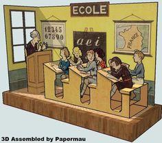 PAPERMAU: Le Ecole - A Vintage Paper Model - by Pouf - via Agence Eureka