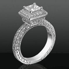 #PrincessCutDiamond #engagementring