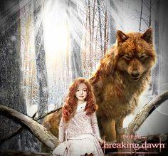 Renesmee & Jacob (wolf) TWILIGHT