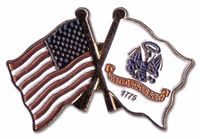 Army and USA Flag Lapel Pin