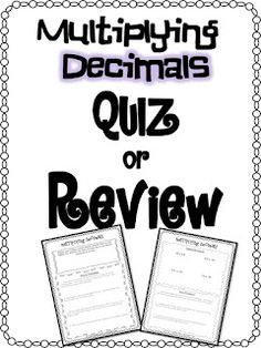 Multiplying Decimal Practice with Word Problems (worksheet)