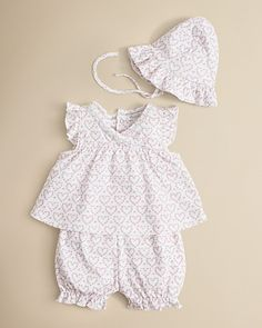 Kissy Kissy Infant Girls' Heart Print Sunsuit Set - Sizes 0-9 Months | Bloomingdale's
