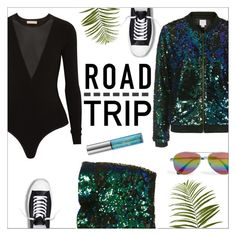 """""""Summer Road Trip Essentials"""" by danielle-487 ❤ liked on Polyvore featuring Michael Kors, We All Shine By MINKPINK, Topshop, Cutler and Gross, Converse, Pier 1 Imports, Urban Decay and roadtrip"""