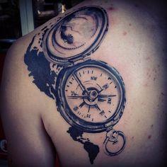 Valmis  Kiitos #compasstattoo #tattoo #tatuointi #lahti #helsinki #bleedingbird #backtattoo #ladytattooers #map #maptattoo #silhouette #kompassitatuointi #compas #way #home #art #tattooproject #inked #finland