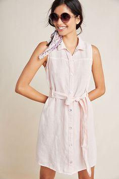 def3ff931fa9 Cloth & Stone Sleeveless Linen Shirtdress #Anthropologie #Shirt #dress  #Napa #