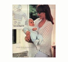 Baby Sweater Booties and Bonnet Knitting by oldschoolwoolens