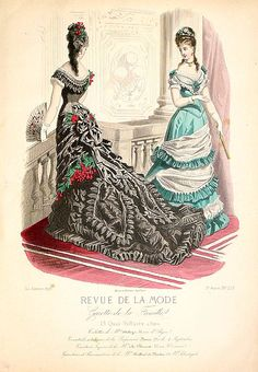 REVUE DE LA MODE - Paris fashion plate. 1876