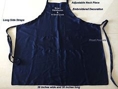 82c6b1f0ca8 Amazon.com  G4FF - SMART HADSOME and a GREAT COOK - Embroidered Funny  Aprons for Men Father s Day Birthday Gift Cooking Grilling BBQ Gardening  Baking ...