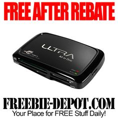 FREE AFTER REBATE - Ultra All-In-One Flash Card Reader - FREE Memory Card Reader for the Computer 12/24/14 ONLY #freeafterrebate