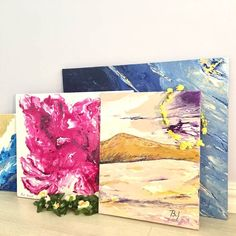229 отметок «Нравится», 13 комментариев — Varvara&Linda (@artpotion.gallery) в Instagram: «Our summer collection of paintings #artforsale #art #artpotion #abstractpainting #abstractart…»