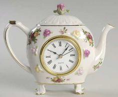 clock teapots | ROYAL ALBERT Old Country Roses STOCK