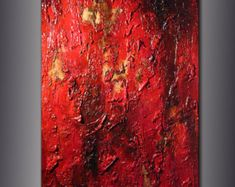 Textura de pintura Original arte moderno por newwaveartgallery