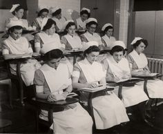 A group of nursing students at the Beth Israel Hospital, New York, in the early 1940s.