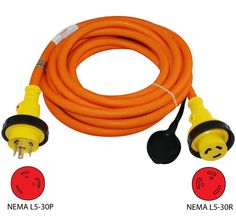 conntek ft a prong generator outlet splitter cord conntek l5 30p to l5 30r 30amp shore power extension cord