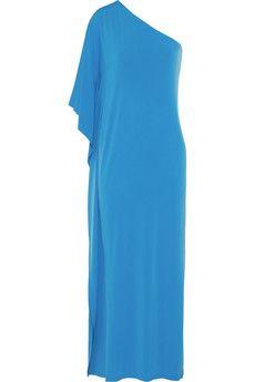 MICHAEL Michael Kors One-shoulder stretch-jersey maxi dress | NET-A-PORTER