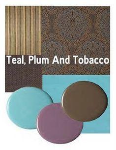 colour palette teal plum grey brown decor - Google Search