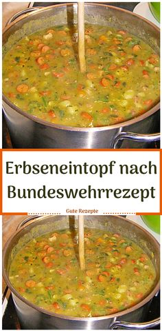 Erbseneintopf nach Bundeswehrrezept - Del My Site Life Shrimp Casserole, Casserole Dishes, Casserole Recipes, A Food, Good Food, Food And Drink, Food Names, Cereal Recipes, Food Containers